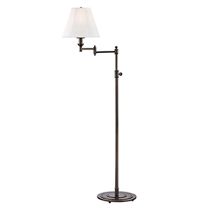 Signature No.1 Bronze and Off White One-Light Floor Lamp