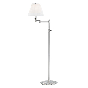 Signature No.1 Gray and Off White One-Light Floor Lamp