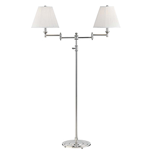 Signature No.1 Gray and Off White Two-Light Floor Lamp