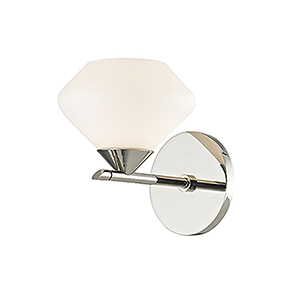 Valerie Polished Nickel 1-Light 6-Inch Bath Sconce