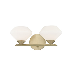 Valerie Aged Brass 2-Light 14-Inch Bath Vanity