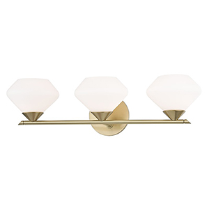 Valerie Aged Brass 3-Light 22-Inch Bath Vanity