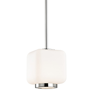 Jenny Polished Nickel 1-Light 6.5-Inch Mini Pendant