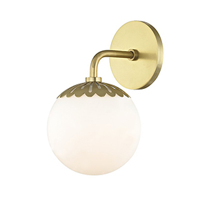 Paige Aged Brass 1-Light 6-Inch Bath Sconce
