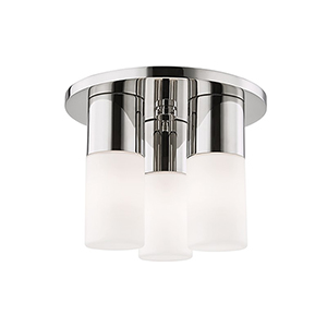 Lola Polished Nickel LED Nine-Inch Flush Mount
