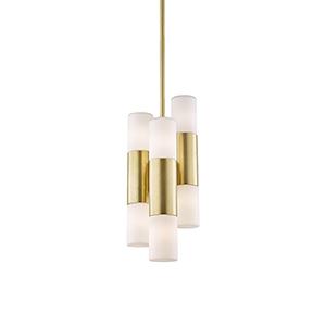 Lola Aged Brass LED 7.5-Inch Mini Pendant