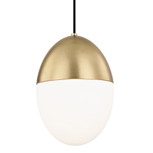 Orion Aged Brass 1-Light 10-Inch Pendant