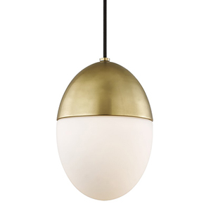 Orion Aged Brass 1-Light 7.5-Inch Mini Pendant