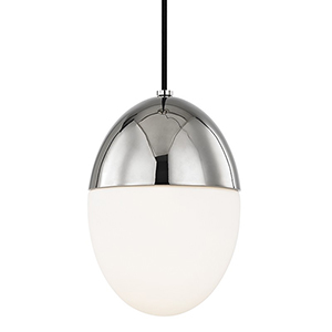 Orion Polished Nickel 1-Light 7.5-Inch Mini Pendant