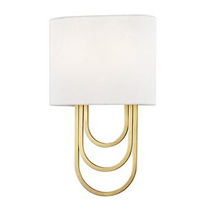 Farah Aged Brass 2-Light 8-Inch Wall Sconce