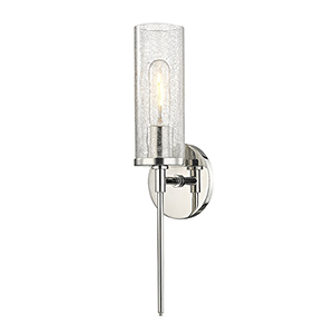 Olivia Polished Nickel 1-Light Five-Inch Wall Sconce