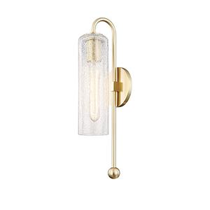 Skye Aged Brass 1-Light Five-Inch Wall Sconce