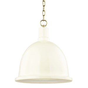 Blair Aged Brass 1-Light 16-Inch Pendant