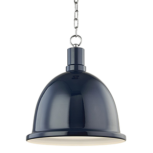 Blair Polished Nickel 1-Light 16-Inch Pendant