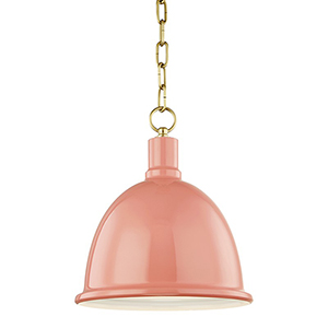 Blair Aged Brass 1-Light 11-Inch Pendant