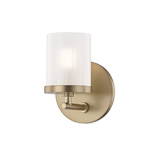 Ryan Aged Brass 1-Light Five-Inch Bath Sconce