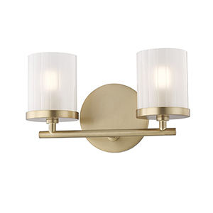 Ryan Aged Brass 2-Light 10.5-Inch Bath Vanity