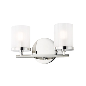 Ryan Polished Nickel 2-Light 10.5-Inch Bath Vanity