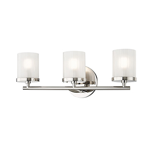Ryan Polished Nickel 3-Light 17.5-Inch Bath Vanity