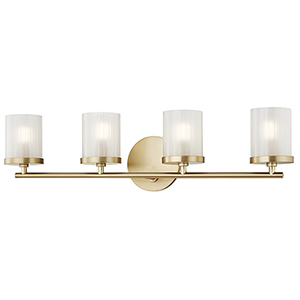 Ryan Aged Brass 4-Light 25-Inch Bath Vanity