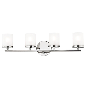 Ryan Polished Nickel 4-Light 25-Inch Bath Vanity