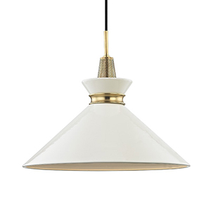 Kiki Aged Brass 1-Light 18-Inch Pendant