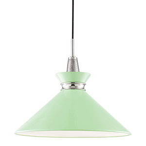 Kiki Polished Nickel 1-Light 18-Inch Pendant