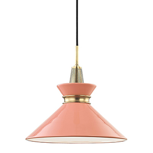 Kiki Aged Brass 1-Light 14-Inch Pendant