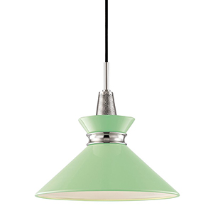 Kiki Polished Nickel 1-Light 14-Inch Pendant