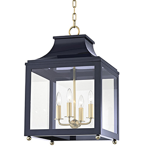 Leigh Aged Brass Navy 4-Light 16-Inch Pendant