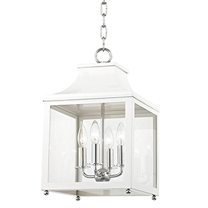 Leigh Polished Nickel White 4-Light 11.5-Inch Pendant