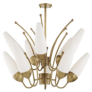 Amee Aged Brass 10-Light 32.5-Inch Chandelier