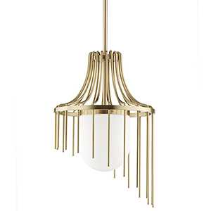 Kylie Aged Brass 1-Light 16-Inch Pendant