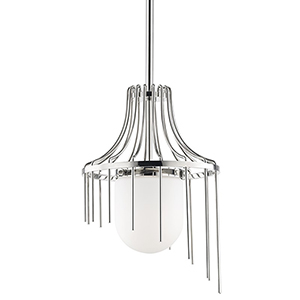 Kylie Polished Nickel 1-Light 12-Inch Pendant