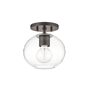 Margot Old Bronze One-Light Semi Flush