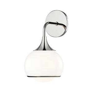 Reese Polished Nickel One-Light Bathroom Vanity Light