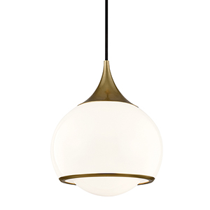 Reese Aged Brass 10-Inch One-Light Pendant