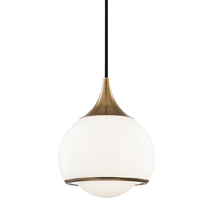 Reese Aged Brass One-Light Pendant