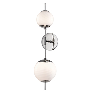 Remi Polished Nickel Two-Light Wall Sconce