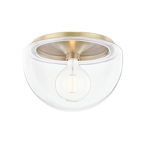 Grace Aged Brass One-Light Flush Mount
