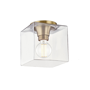Grace Aged Brass 7-Inch One-Light Flush Mount