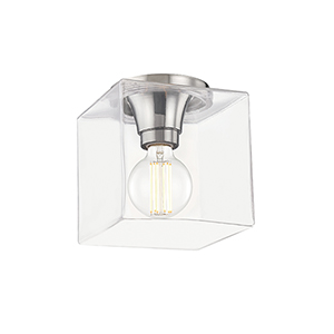 Grace Polished Nickel One-Light Flush Mount