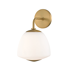 Jane Aged Brass One-Light Wall Sconce