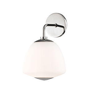Jane Polished Nickel One-Light Wall Sconce