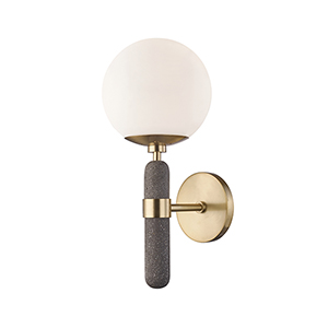 Brielle Aged Brass One-Light Wall Sconce