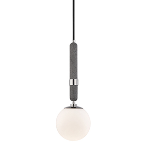Brielle Polished Nickel One-Light Pendant