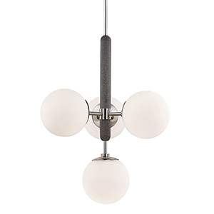 Brielle Polished Nickel Four-Light Pendant