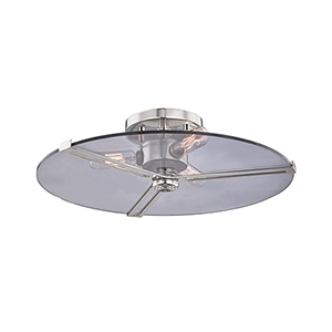 Boni Polished Nickel Three-Light Flush Mount