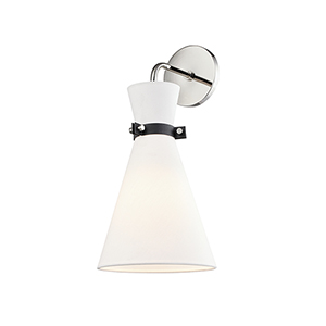 Julia Polished Nickel One-Light Wall Sconce