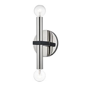 Colette Polished Nickel Two-Light Wall Sconce